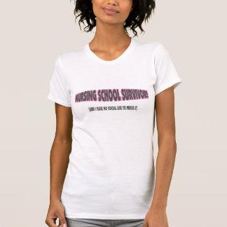 Nursing School Survivor/No Social Life To Prove It T-Shirt