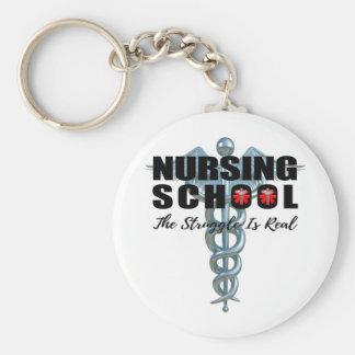 Nursing School The Struggle Is Real Keychain