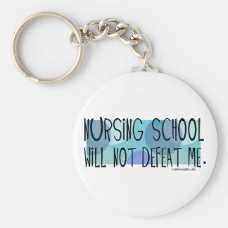 Nursing School will not Defeat Me Basic Round Button Keychain