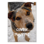 Nursing Sick Kid Cute Dog - Cowboy Parenting Card