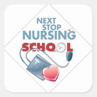 Nursing Square Sticker