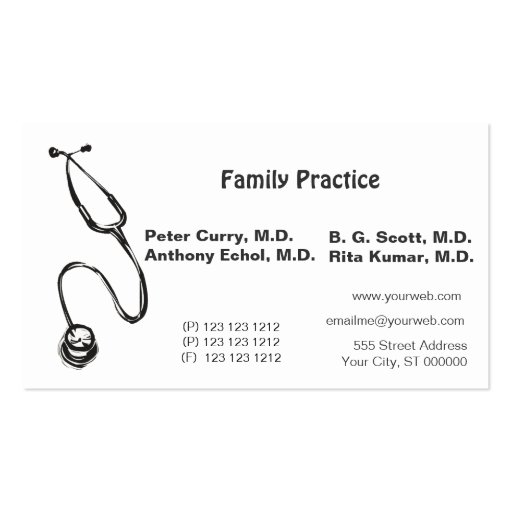 medical appointment cards templates .
