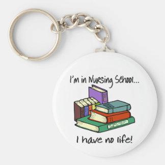 Nursing Student Basic Round Button Keychain