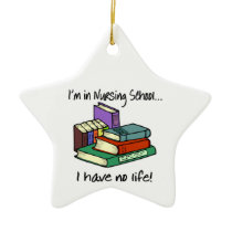 Nursing Student Ceramic Ornament
