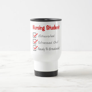 "Nursing Student ""Check Mark"" T-Shirts & Gifts 15 Oz Stainless Steel Travel Mug"