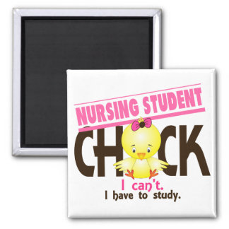 Nursing Student Chick 1 2 Inch Square Magnet