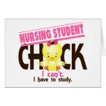 Nursing Student Chick 1 Cards