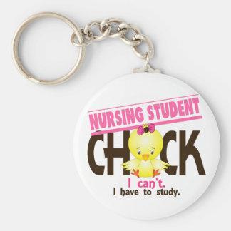 Nursing Student Chick 1 Basic Round Button Keychain