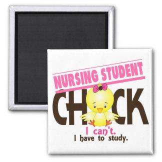 Nursing Student Chick 1 2 Inch Square Magnet