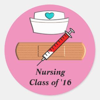 Nursing Student Class of 2016 Stickers Pink