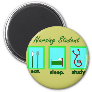 nursing student eat sleep study magnet