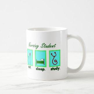 nursing student eat sleep study coffee mugs