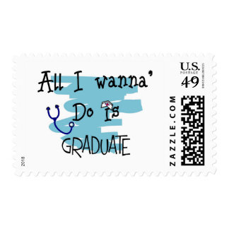 """Nursing Student Funny """"Ready to Graduate!"""" Gifts Stamp"""