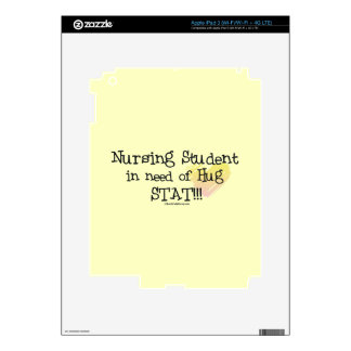Nursing Student in Need of Hug Decals For iPad 3