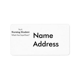 Nursing Student Label