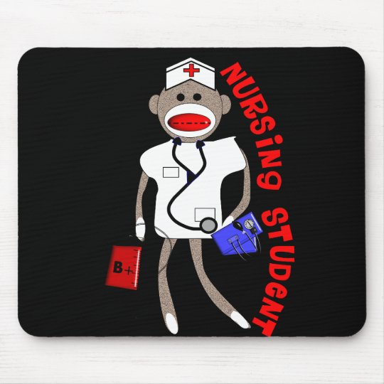 Nursing Student Sock Monkey Gifts Mouse Pad