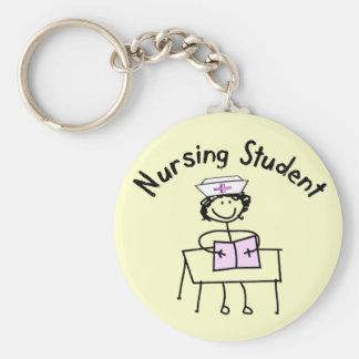 Nursing Student Stick Lady Gifts Keychain