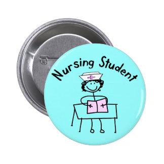 Nursing Student Stick Lady Gifts Pinback Button