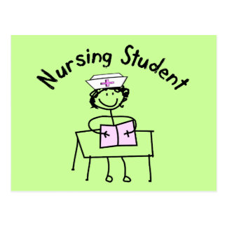Nursing Student Stick Lady Gifts Postcard