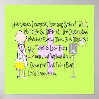 "Nursing Student Story Art Poster ""Foley Bag"""