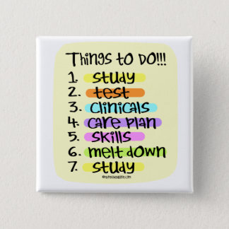 Nursing Student  to Do List Button