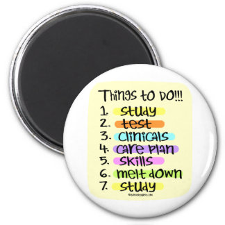 Nursing Student  to Do List Magnet