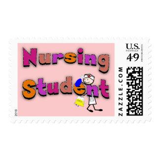 Nursing Student Watercolor Art Stick Person Nurse Postage Stamps