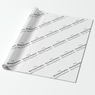 Nursing Student Wrapping Paper