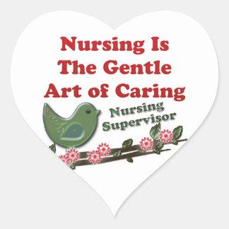 Nursing Supervisor Heart Sticker