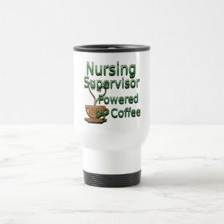 Nursing Supervisor Powered by Coffee Travel Mug