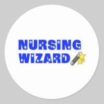 Nursing Wizard Classic Round Sticker