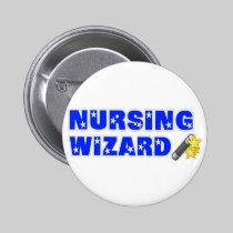 Nursing Wizard Pinback Buttons