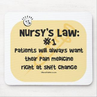 Nursy's Law No. 1 - Pain Medicine Mouse Pad
