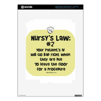 Nursys Law No. 2 IVs going Bad iPad 3 Decals