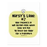 Nursy's Law No. 2 - IVs going Bad Postcard