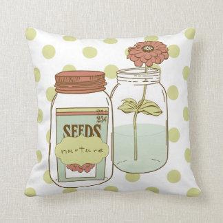 Nurture mason jars pillow