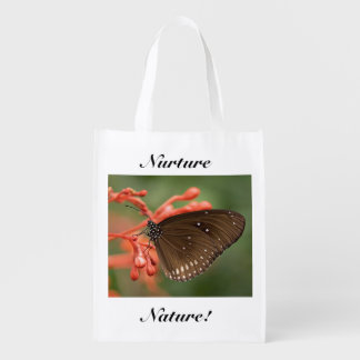 Nurture Nature Butterfly Grocery Bag