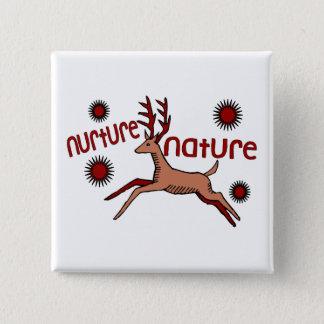 Nurture Nature Deer Button