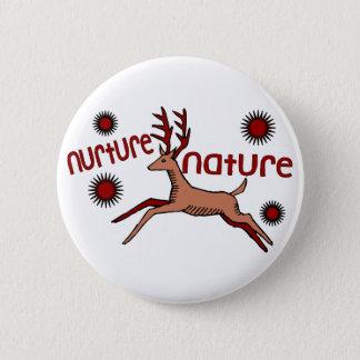 Nurture Nature Deer Pinback Button