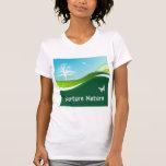 Nurture Nature Rolling Grass Sky Trees & Birds T-Shirt