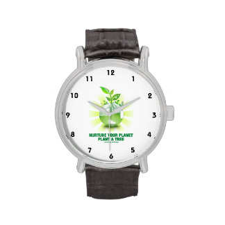 Nurture Your Planet Plant A Tree (Planet Earth) Wristwatch