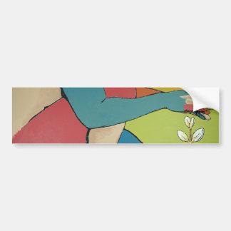 Nurturing - Abstract Art Car Bumper Sticker