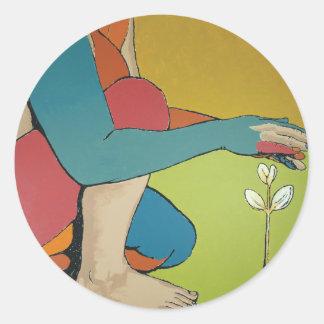 Nurturing - Abstract Art Classic Round Sticker