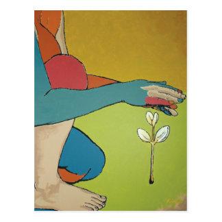 Nurturing - Abstract Art Postcard