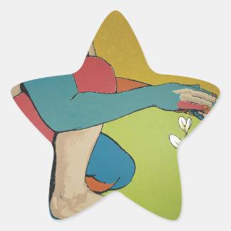 Nurturing - Abstract Art Star Sticker