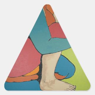 Nurturing - Abstract Art Triangle Sticker