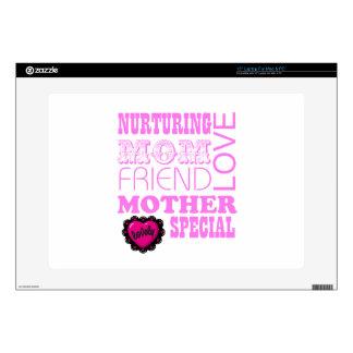 """Nurturing Mom, special Mother 15"""" Laptop Skin"""
