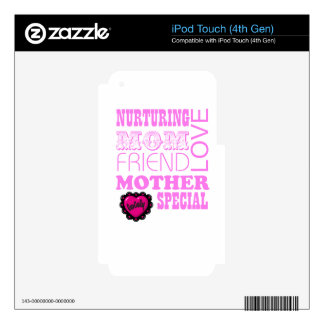 Nurturing Mom, special Mother Decals For iPod Touch 4G