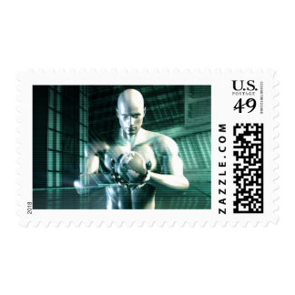 Nurturing Technology and Funding Startups Industry Postage Stamps