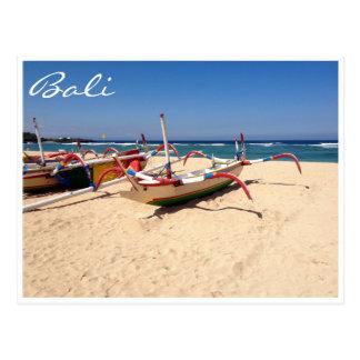 nusa dua boats postcard